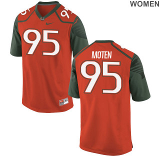 Women's  Game Orange Miami Hurricanes Alumni Jersey | Anthony Moten
